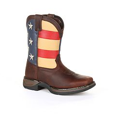 Lil Rebel by Durango American Flag Kids Western Boots
