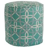 Metje Keene Geometric Indoor Outdoor Small Pouf