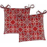 Metje Keene Geometric Indoor Outdoor 2-piece Reversible Chair Cushion Set