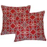 Metje Keene Geometric Indoor Outdoor 2 pc Reversible Throw Pillow Set