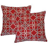 Metje Keene Geometric Indoor Outdoor 2-piece Reversible Throw Pillow Set