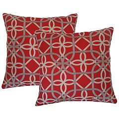 Metje Keene Geometric Indoor Outdoor 2 pc Reversible Throw Pillow Set