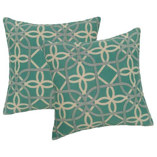 Metje Keene Geometric Indoor Outdoor 2-piece Reversible Throw Pillow Set