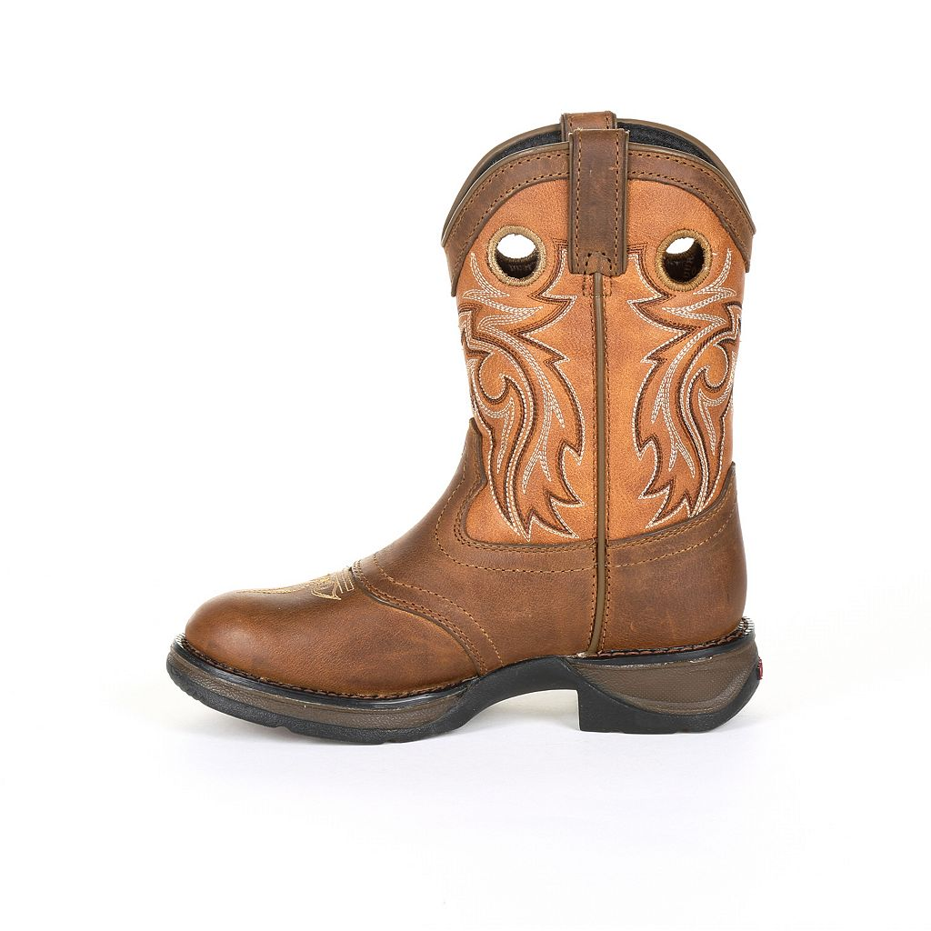 Lil Rebel by Durango Brown Saddle Kids Western Boots
