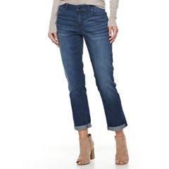 Petite Jennifer Lopez Cuffed Straight-Leg Jeans