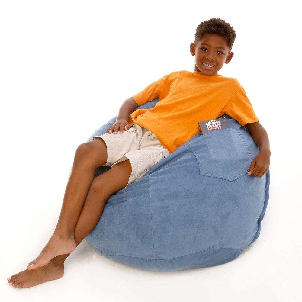 Fun Furnishings Large Microsuede Beanbag Chair
