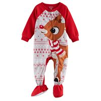 Baby Jammies For Your Families Rudolph The Red Nosed Reindeer Microfleece Footed Pajamas