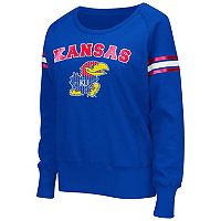 Women's Campus Heritage Kansas Jayhawks Wiggin' Fleece Sweatshirt