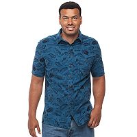 Big & Tall Croft & Barrow® True Comfort Regular-Fit Stretch Crosshatch Button-Down Shirt