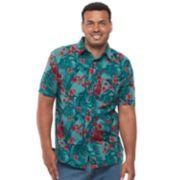 Big & Tall Croft & Barrow® True Comfort Regular-Fit Stretch Crosshatch Button-Down Shirt