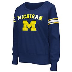 Women's Campus Heritage Michigan Wolverines Wiggin' Fleece Sweatshirt