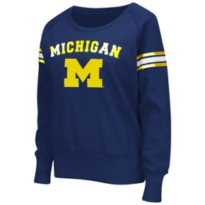 Women's Campus Heritage Michigan Wolverines Wiggin' Fleece Sweatshirt