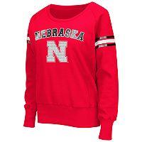 Women's Campus Heritage Nebraska Cornhuskers Wiggin' Fleece Sweatshirt