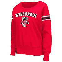 Women's Campus Heritage Wisconsin Badgers Wiggin' Fleece Sweatshirt