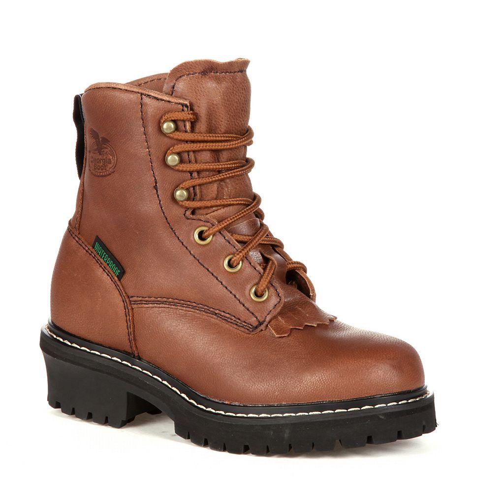 Georgia Boot Kids Waterproof Logger Boots