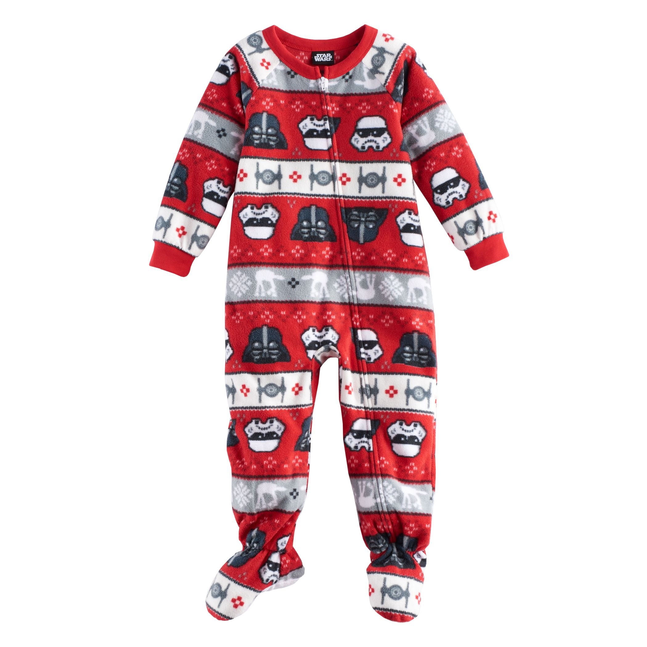 Toddler Jammies For Your Families Star Wars Darth Vader U0026 Stormtrooper  Fairisle Microfleece Footed Pajamas