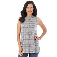 Women's AB Studio Textured Knit Swing Tank Top