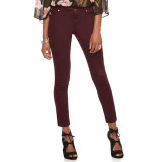 Petite Jennifer Lopez Maroon Skinny Jeans