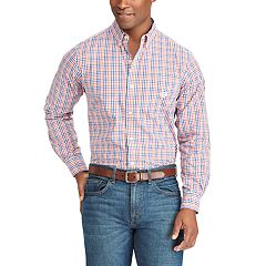 Men's Chaps Classic-Fit Gingham Easy-Care Button-Down Shirt
