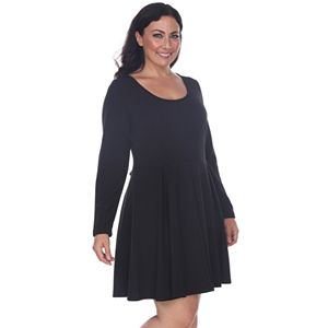 dbc6ee160440d Regular.  74.99. Plus Size White Mark Pleated Fit   Flare Dress