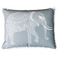 Thro by Marlo Lorenz Emmet Elephant Reversible Oblong Throw Pillow