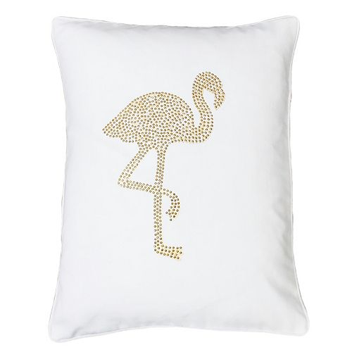 Thro by Marlo Lorenz Phyllis Flamingo Oblong Throw Pillow