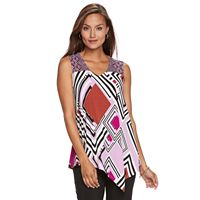 Women's Dana Buchman Assymetrical Hem Top