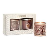 Yankee Candle Leaves Candle Sleeve & Autumn Wreath 7-oz. Candle Jar 2-piece Set