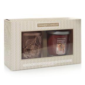 Yankee Candle Leaves Candle Sleeve & Autumn Wreath 7-oz. Candle Jar 2-piece Set