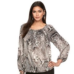 Women's Jennifer Lopez Pleated Stud Top