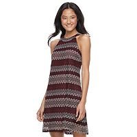 Juniors' Candie's® Print Halter Shift Dress