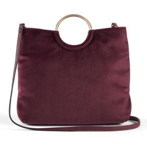 LC Lauren Conrad Runway Collection Celeste Velvet Ring Crossbody Bag