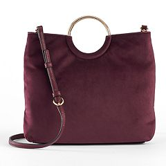 LC Lauren Conrad Runway Collection Celeste Velvet Ring Crossbody Bag