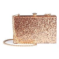 LC Lauren Conrad Runway Collection Lou Glitter Clutch