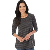 Women's Apt. 9® Printed 3/4 Sleeve Top