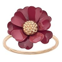 LC Lauren Conrad Red Flower Ring