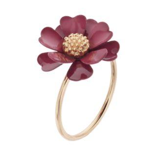 LC Lauren Conrad Red Flower Ring
