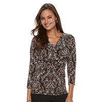 Women's Dana Buchman 3/4-Sleeve Cowlneck Top