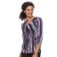 Women's Dana Buchman 3/4-Sleeve Cowlneck Top