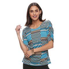 Women's Dana Buchman Shirred Elbow-Sleeve Top