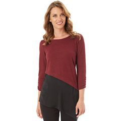 Women's Apt. 9® Colorblock Asymmetrical Top