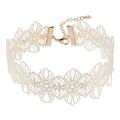 LC Lauren Conrad Floral Lace Choker Necklace