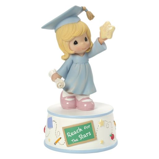 "Precious Moments ""Reach For The Stars"" Musical Girl Graduate Figurine"