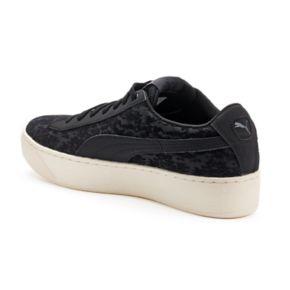 PUMA Vikky Platform Velvet Flocked Women's Sneakers
