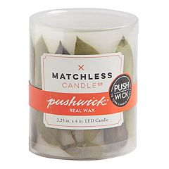 Matchless Candle Co. PushWick 3' x 4' Unscented Faux Leaf Flameless LED Candle
