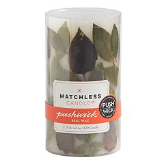 Matchless Candle Co. PushWick 3' x 6' Unscented Faux Leaf Flameless LED Candle
