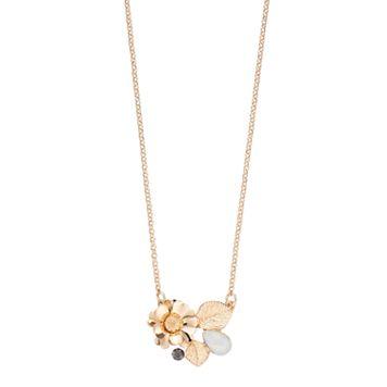 LC Lauren Conrad Flower Leaf Cluster Necklace
