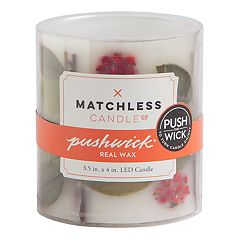 Matchless Candle Co. PushWick 3' x 4' Unscented Faux Berry Flameless LED Candle