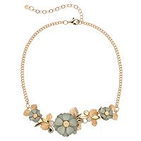 LC Lauren Conrad Flower Statement Necklace