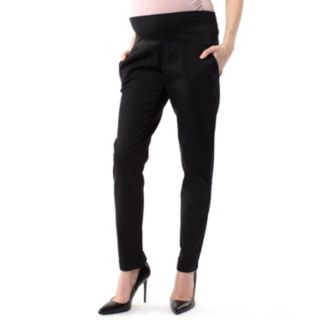 Plus Size Maternity Pip & Vine by Rosie Pope Belly Panel Dress Pants